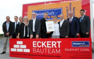 """5 """"Meisterhaft""""-Sterne für Eckert Bauteam"""