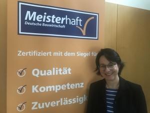 Nora Dahle ab sofort für Überwachung der Aktion Meisterhaft zuständig